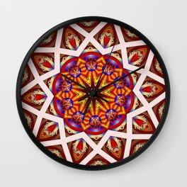 *Star Flower Council* Wall Clock