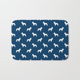 Boston Terrier silhouette pet art dog pattern boston terrier pattern Bath Mat