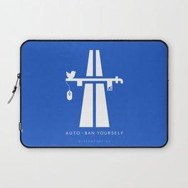 AutoBan Yourself Laptop Sleeve