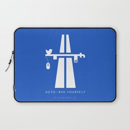 AutoBan Yourself Laptop Sleeve