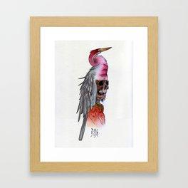 Skull Crane Framed Art Print