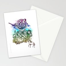 strange unicorn garden Stationery Cards