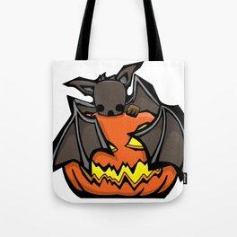 Bat and Jack O'Lantern | Halloween Series | DopeyArt Tote Bag