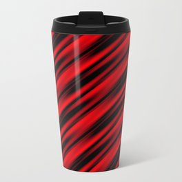 Abstract red ray background Travel Mug