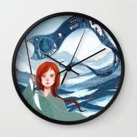 saga Wall Clocks featuring The Banner Saga by Tori
