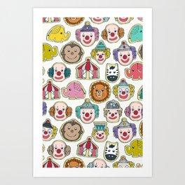 circus cookies multi Art Print