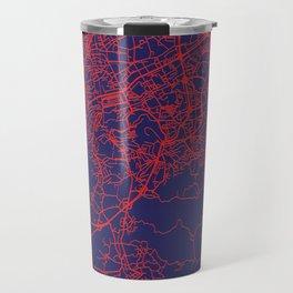 Braga, Portugal, Blue, White, City, Map Travel Mug