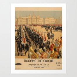 Werbeplakat Trooping the Colour voyage poster Art Print