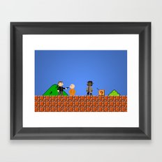 what's in the box?! Framed Art Print