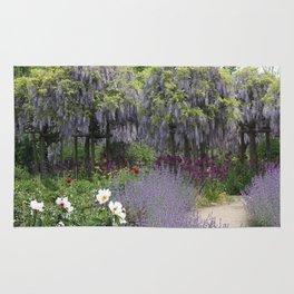 Blue Flowergarden With Wisteria Rug