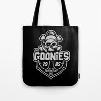 goonies Tote Bags featuring The Goonies grey by Buby87