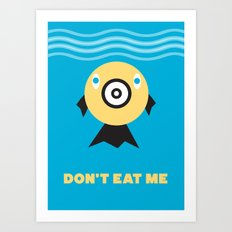 Don't Eat Me Vegan Fishie Art Art Print
