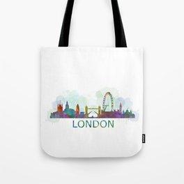 London UK Skyline HQ watercolor Tote Bag