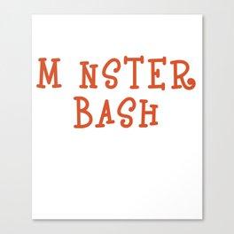 Funny & Cool Halloween Costume Tee Monster Bash Canvas Print
