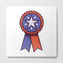 Award Ribbon Metal Print