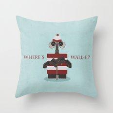 Where's Wall-e? Throw Pillow