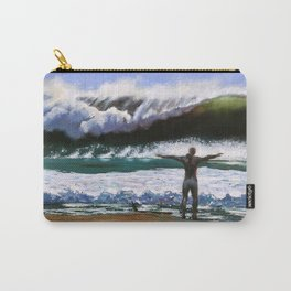 Vitruvian Surfer Carry-All Pouch