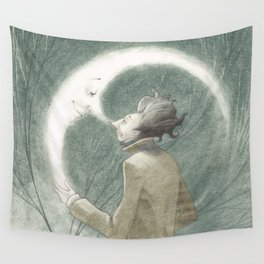 THE MAN & THE MOON Wall Tapestry