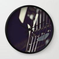 guitar Wall Clocks featuring guitar by monicamarcov