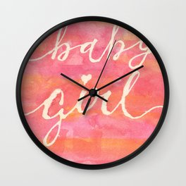 It's a baby girl Wall Clock