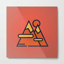 Mountain Red Metal Print