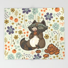 Free & Wild 3 Throw Blanket