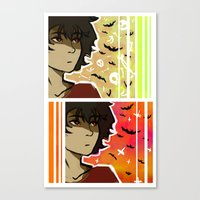 nico di angelo Canvas Prints featuring spooky nico by JASE