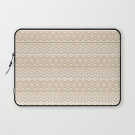 Gold and White Classic Nordic Christmas Pattern Laptop Sleeve