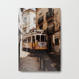 Traffic Jam in Lisbon Metal Print