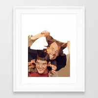dumb and dumber Framed Art Prints featuring Dumb and Dumber - Low Poly by Camilo