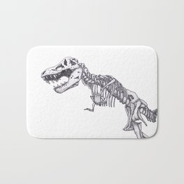Tyrannosaurus rex skeleton Bath Mat