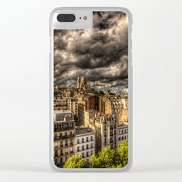 Storm over Montmartre with Sacre Coeur Clear iPhone Case