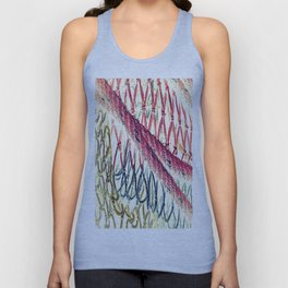 Abstract vintage 888 Unisex Tank Top
