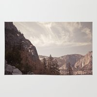 yosemite Area & Throw Rugs featuring yosemite by illustratographer
