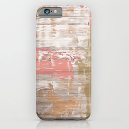 Living Coral, Camel And Gray Texture iPhone Case