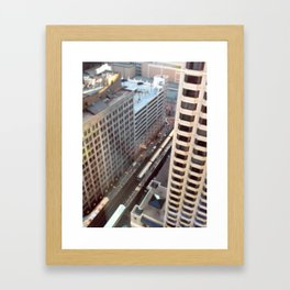 Chicago El Train Tracks Original Color Photo Framed Art Print