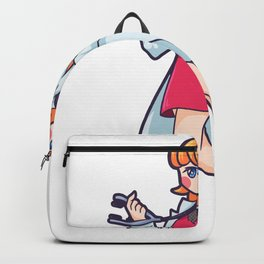 Woman doctor physician medicine Backpack
