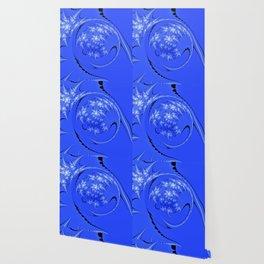 Blue and White Morph Wallpaper