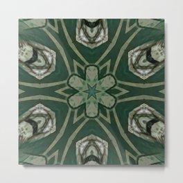The Green Unsharp Mandala 4 Metal Print