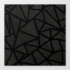 Ab Marble Zoom Black Canvas Print