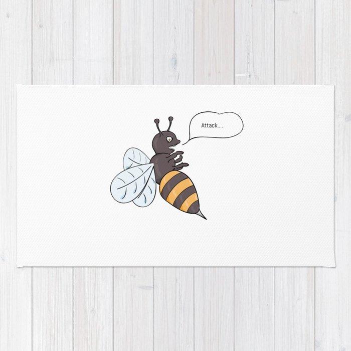 aggressive wasp attacking Rug
