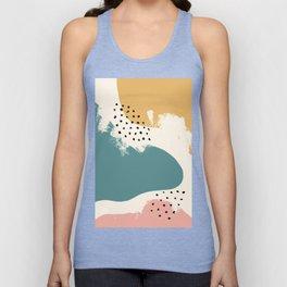 Handdrawn wall art PRINT | abstract print, Minimalist print, Modern minimalist, promotion, Gift for Unisex Tank Top