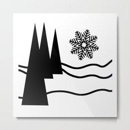 Christmas Trees and Snow Metal Print