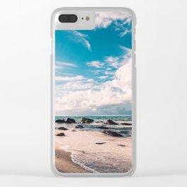 beach-sea Clear iPhone Case