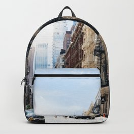 Typical street in Soho in New York Backpack