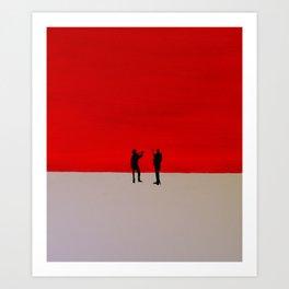 conversing Art Print
