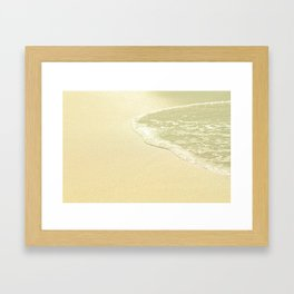 beach sparkling golden sand Framed Art Print