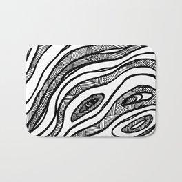 Organic Black & White lines Bath Mat