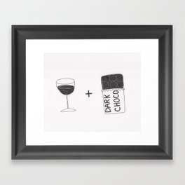 Wine and Chocolate Framed Art Print