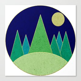 Dark Night Forest Canvas Print